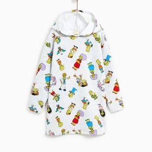 Zara girls plush Simpson dress